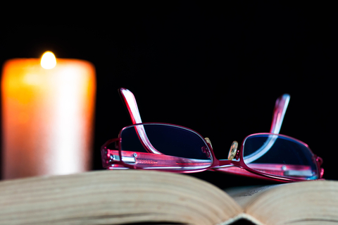 open book glasses